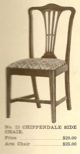 B13017 Chippendale Side Chair