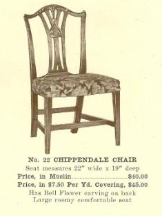 B13105 Chippendale Chair ~ No Upholstery