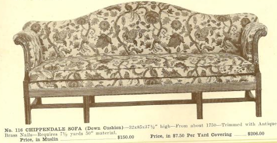 GFS- A13053 Chippendale Sofa ~ No Upholstery