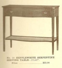 B13026 Hepplewhite Serpentine Serving Table