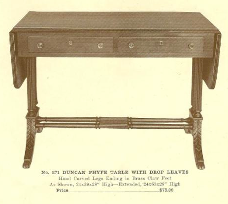 B13183 Duncan Phyfe Table With Drop Leaves