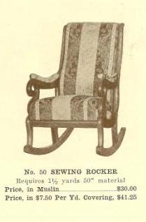 B13138 Sewing Rocker ~ No Upholstery