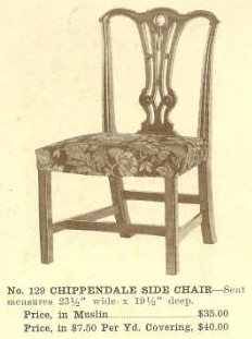 B13066 Chippendale Side Chair ~ No Upholstery