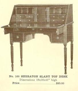 B13109 Sheraton Slant Top Desk