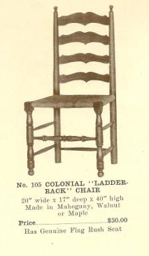 B13110 Colonial Ladder-Back Chair
