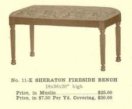 GFS- B13166 Sheraton Fireside Bench ~ No Upholster
