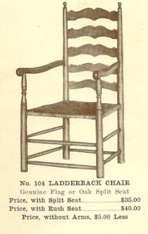 GFS- B13181 Ladderback Chair - Split Seat