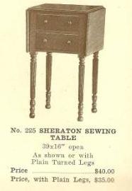 B13090 Sheraton Sewing Table