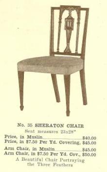 B13116 Sheraton Chair w-Arms