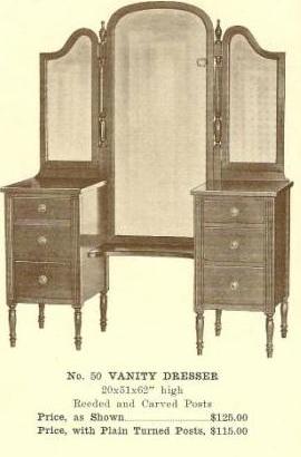 GFS- A13131 Vanity Dresser ~ Plain Turned Posts