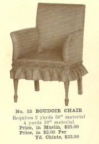 B13158 Boudoir Chair~ No Upholstery
