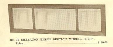 C13039 Sheraton Three Section Mirror