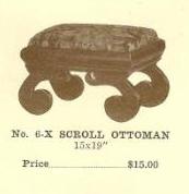 GFS- C13077 Scroll Ottoman