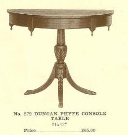 GFS- B13163 Duncan Phyfe Console Table