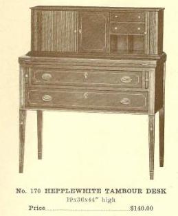 GFS- A13097 Hepplewhite Tambour Desk