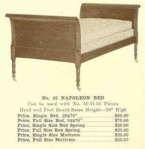A13171 Napoleon Bed - King