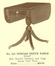GFS- B13189 Duncan Phyfe Table With Drop Leaves