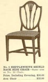B13012 Hepplewhite Shield Back Side Chair w/Arms