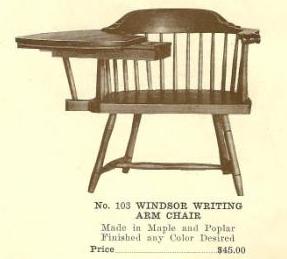 B13108 Windsor Writing Arm Chair