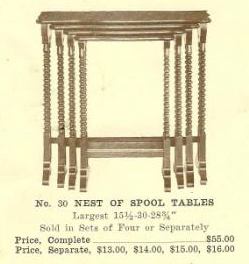 B13188 Nest of Spool Tables