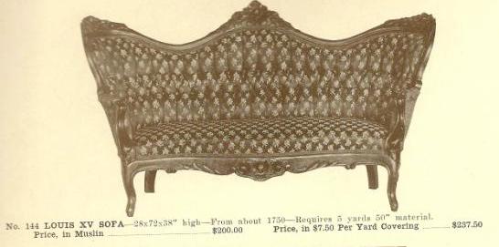 A13051 Louis XV Sofa ~ No Upholstery