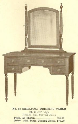 GFS- B13128 Sheraton Dressing Table ~ Fluted Legs