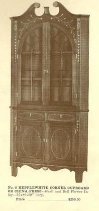 GFS- A13005 Hepplewhite Corner Cupboard