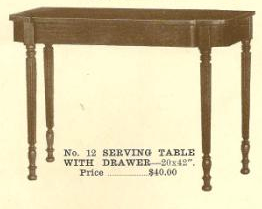 B13047 Sheraton Table w-Drawer
