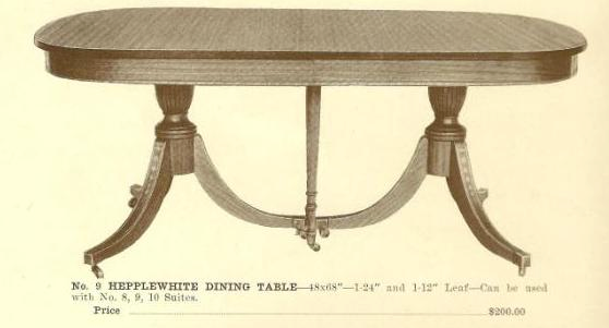A13021 Hepplewhite Dining Table