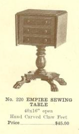 GFS- B13089 Empire Sewing Table