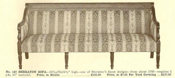 A13048 Sheraton Sofa ~ No Upholstery