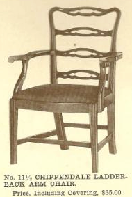 B13033 Chippendale Ladder-Back Arm Chair