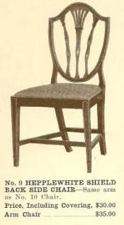 B13011 Hepplewhite Shield Back Side Chair