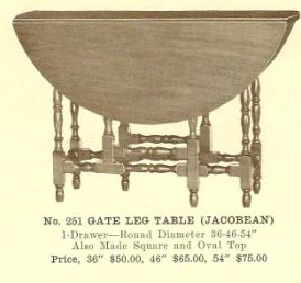 GFS- B13190 Gate Leg Table (Jacobean)