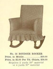B13135 Boudoir Rocker ~ No Upholstery