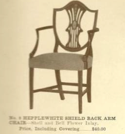A13006A Hepplewhite Shield Back Side Chair With Ar
