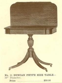 B13037 Duncan Phyfe Side Table