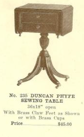 GFS- B13088 Duncan Phyfe Sewing Table