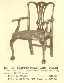 B13067 Chippendale Arm Chair ~ No Upholstery