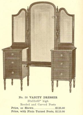 GFS- A13130 Vanity Dresser ~ Readed and Carved Pos