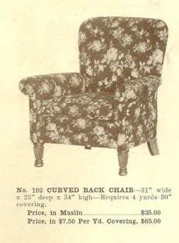 B13069 Curved Back Chair ~ No Upholstery