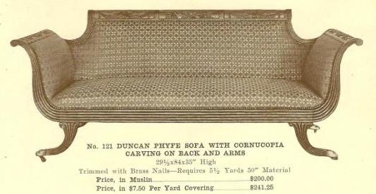 A13187 Duncan Phyfe Sofa W-Cornucopia Carving