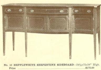 GFS- A13019 Hepplewhite Serpentine Sideboard