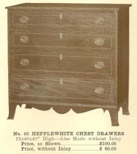 B13180 Hepplewhite Chest Drawers w-o inlay