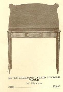 B13096 Sheraton Inlaid Console Table