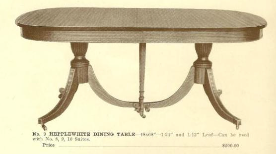 A13009 Hepplewhite Dining Table