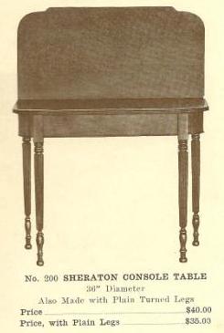 GFS- B13092 Sheraton Console Table ~ Fluted Leg