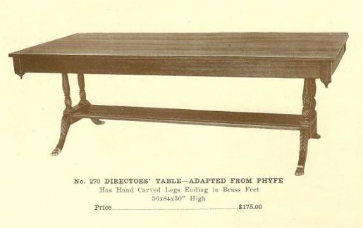 A13184 Directors' Table - Adapted From Phyfe