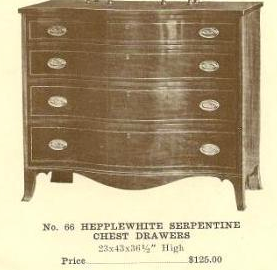 GFS- A13176 Hepplewhite Serpentine Chest Drawers