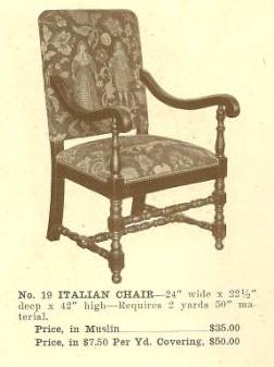 GFS- B13068 Italian Chair ~ No Upholstery